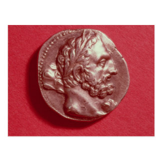 Punic coin bearing the head of Hamilcar Barca Postcard