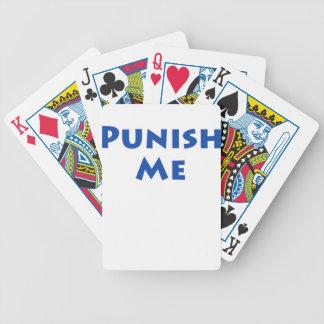 Punish Me Bicycle Playing Cards