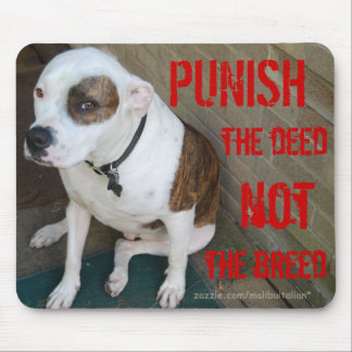 PUNISH the deed NOT the breed Mouse Pads
