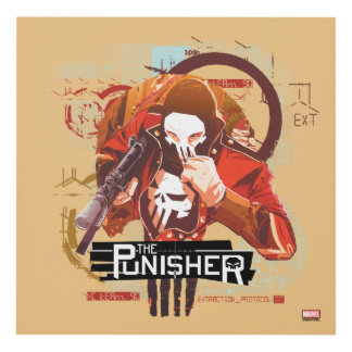 Punisher Extraction Protocol Panel Wall Art