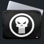 "Punisher Logo Laptop Sleeve<br><div class=""desc"">Check out the name and crosshair logo for Marvel&#39;s Punisher!</div>"
