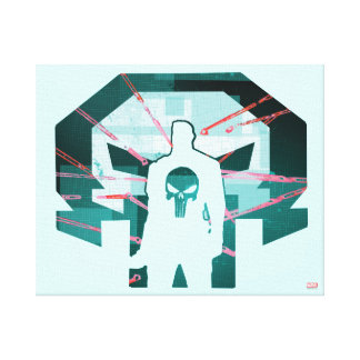 Punisher Logo Silhouette Canvas Print