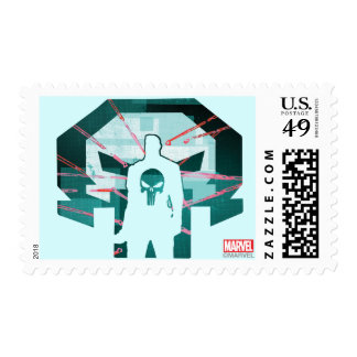 Punisher Logo Silhouette Postage