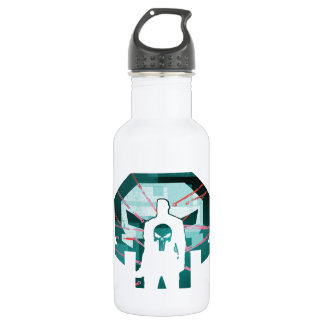 Punisher Logo Silhouette Stainless Steel Water Bottle