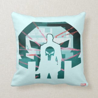 Punisher Logo Silhouette Throw Pillow