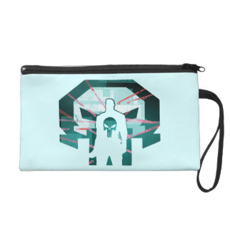 Punisher Logo Silhouette Wristlet Purse