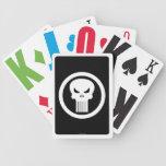 Punisher Logo - White Playing Cards