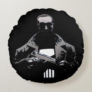 Punisher Out Of The Shadows Round Pillow