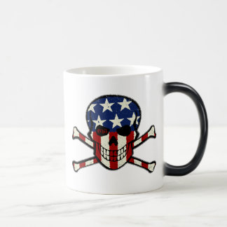 Punisher Skull Americana Flag Graphic Magic Mug