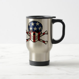Punisher Skull Americana Flag Graphic Travel Mug