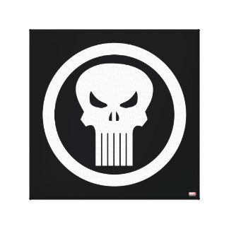 Punisher Skull Icon Canvas Print