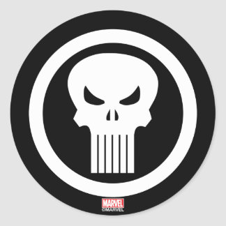 Punisher Skull Icon Classic Round Sticker