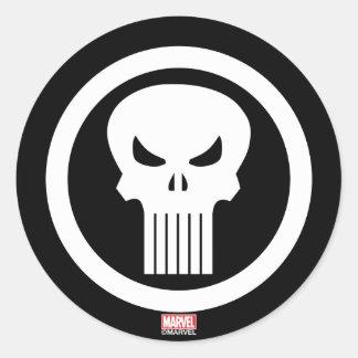 Punisher Skull Icon Classic Round Sticker