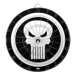 Punisher Skull Icon Dartboard With Darts