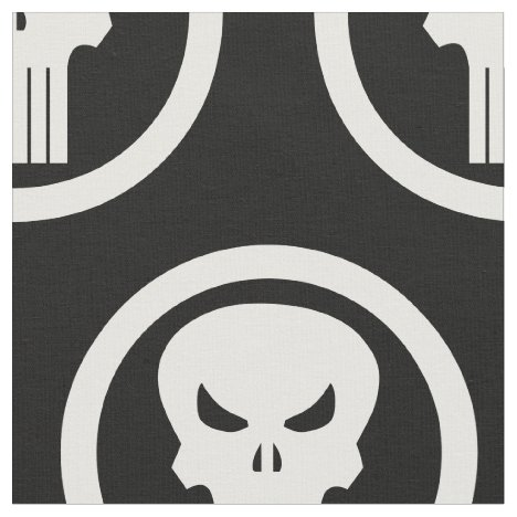 Punisher Skull Icon Fabric