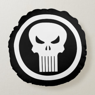 Punisher Skull Icon Round Pillow