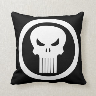 Punisher Skull Icon Throw Pillow