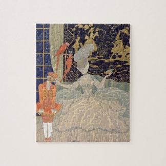 Punishing the Page (colour litho) Jigsaw Puzzle