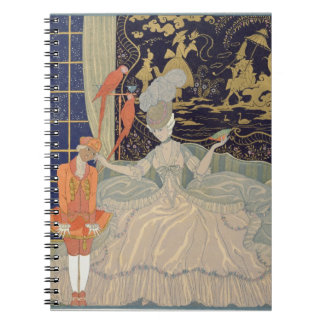 Punishing the Page (colour litho) Notebook