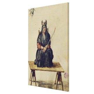 Punishment of a sorceress canvas print