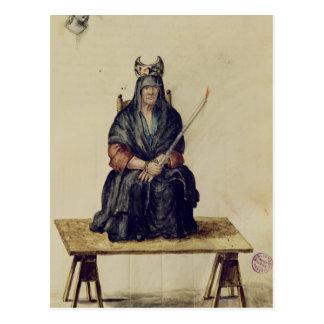 Punishment of a sorceress postcard