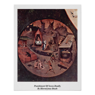 Punishment Of Seven Deadly By Hieronymus Bosch Print