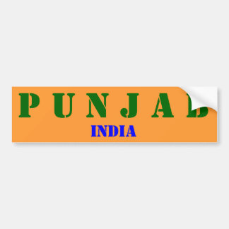 Punjab* India Bumper Sticker