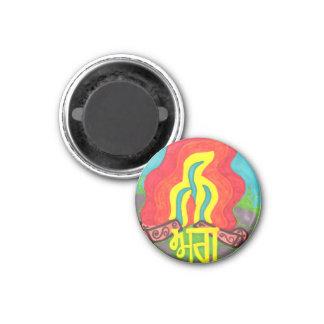 Punjabi Fire Educational Fun Language Learning 1 Inch Round Magnet