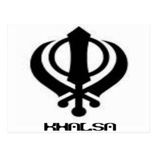 Punjabi Khanda Sikh Khalsa Design Merchandise Postcard