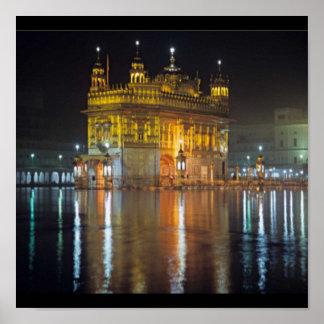 Punjabi Khanda Sikh Khalsa Design Merchandise Poster