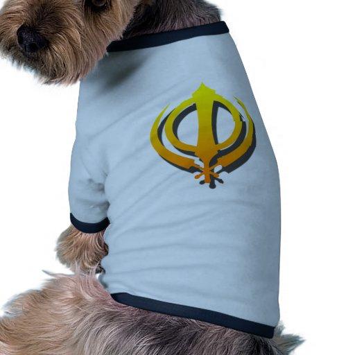 Punjabi sikh del Sikhism de Khanda Khalsa Camisetas Mascota
