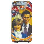 Punk 80' del vintage Charles y Di que se casan Funda De iPhone 6 Tough
