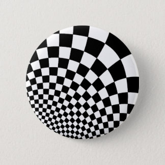 Punk abstract checkerboard button