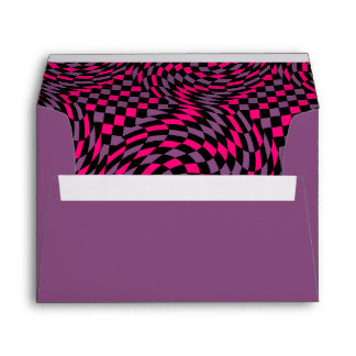 Punk abstract checkerboard envelope