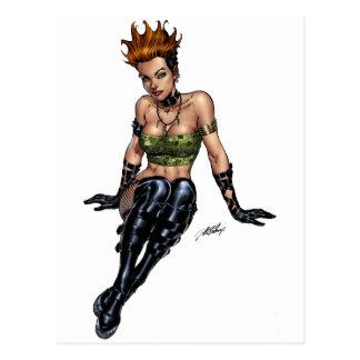 Punk Alternative Girl by Al Rio Post Card