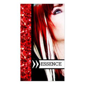 Punk alternative hair salon stylist hairstylist business card