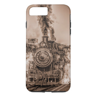 Punk Antiqued del vapor de Steampunk del tren del Funda iPhone 7 Plus