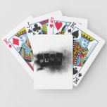 Punk black and white card deck