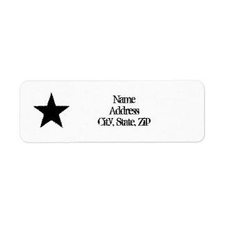 Punk black star label