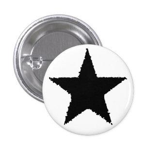 Punk black star pinback button