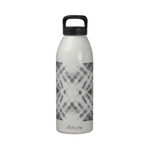 Punk blanco y negro del grunge botella de agua reutilizable