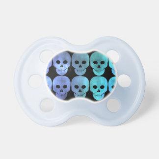 Punk blue skulls pacifier