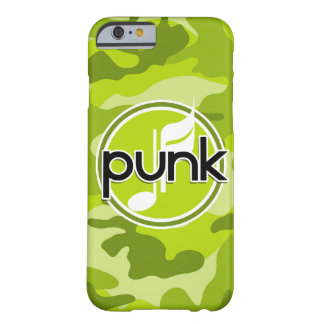 Punk; bright green camo, camouflage barely there iPhone 6 case