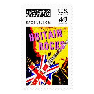 Punk Britain Rocks design with Union Jack guitar, Postage