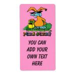 Punk Bunny Avery Easter Label Custom Shipping Labels