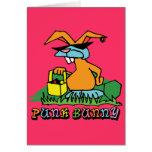 Punk Bunny Greeting Card