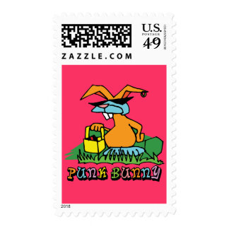 Punk Bunny Postage Stamps