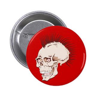 Punk calavera cráneo skull pin redondo de 2 pulgadas
