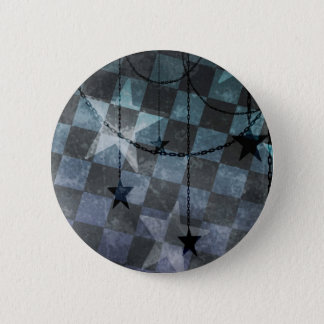 Punk checkerboard stars pinback button