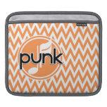 Punk; Chevron anaranjado y blanco Funda Para iPads